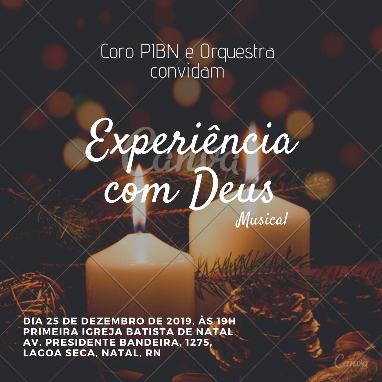 Venha celebrar conosco o verdadeiro natal e tenha uma experiência com Deus.